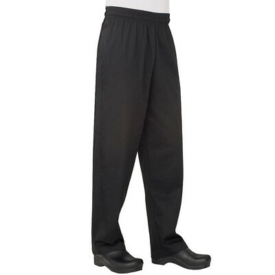 Chef Baggy Pants Black Hospitality Uniform Kitchen Cook Chefworks Extra Small