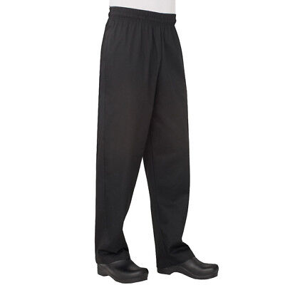Chef Baggy Pants Black Hospitality Uniform Chefs Kitchen Cook Chefworks Large