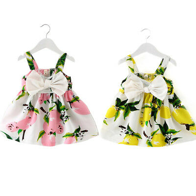 0d673b09a1271 SUMMER DRESS NEWBORN baby girl dress lemon outfit summer boho kids ...
