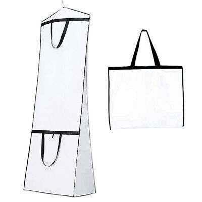 180cm Breathable Dustproof Garment Cover Bag for Bridal,Wedding Dress,Gown, Coat