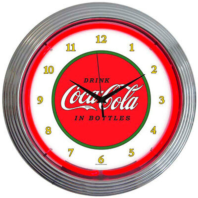 Neon Lighted Face Kitchen Wall Clock Coca Cola Coke 1910 Vintage Advertising Art