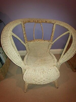 antique vintage cane wicker chair