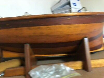 Australian Cedar, Open Ocean Pond Boat, 24 inches Long
