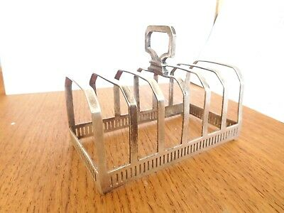 Found*antique Mappin & Webb Silver Plate 6 Place Setting Toast Rack# Post 1920