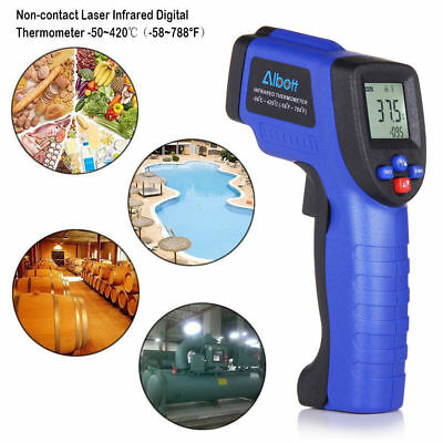 Masione Temperature Gun Non-contact Digital Laser Infrared IR Thermometer Blue