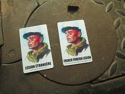 French Foreign Legion / SET ENGLISH- FRENCH Etrangere Code Of Honor 2 Cards