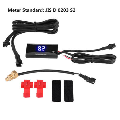 Motorcycle LCD Digital Thermometer Instrument Water Temperature Meter Gauge Blue