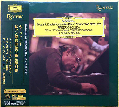 Gulda-Abbado: Mozart Concertos for Piano and Orchestra No.20 & 21 ESOTERIC SACD