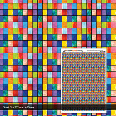 Stained Glass Windows Sheet For Oo Gauge 1:76 Scale Model Railway Wx005-Oo