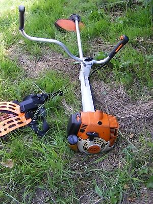 Stihl Fs350  Petrol Strimmer Straight Shaft Strimmer Grass Trimmer With Harness