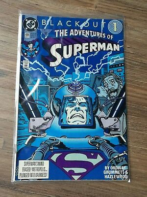 Dc Comics The Adventures Of Superman Vol 1 # 484 November 1991 Blackout