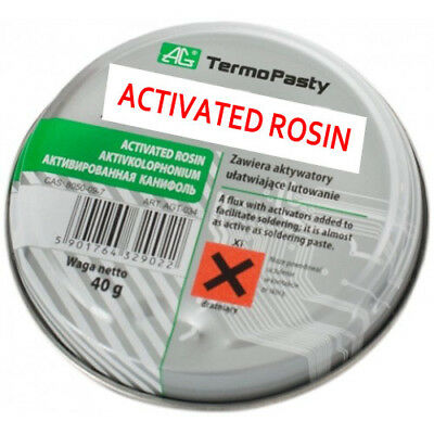 40g of Solid Soldering Rosin (Colophony) Melting temperature: 60 to 80 °C