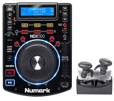Numark NDX500 Single DJ Tabletop USB/CD Media Player/Controller+TRuRock Earbuds