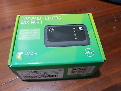New Unlocked Telstra 4GX Wifi 4G ZTE MF910z Modem Optus Vodafone Black