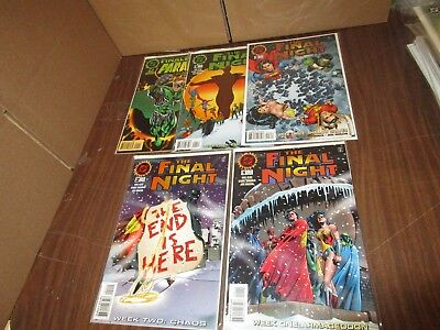 1996 DC Comics THE FINAL NIGHT #1-4 Complete Limited Series Set -/NM+
