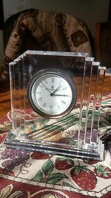 WATERFORD METROPOLITION CRYSTAL CLOCK  with box