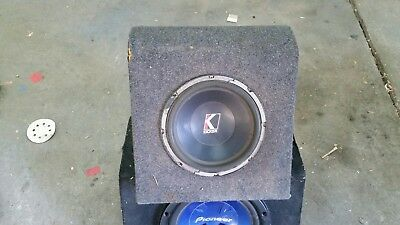 kicker 10 inch subwoofer in sealed box used