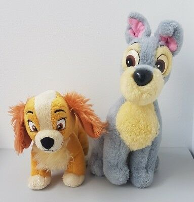 Disney Store Lady And The Tramp Soft Plush Toys