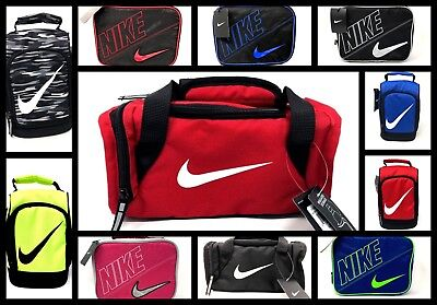 cbbce3b941cc7f Nike Kids Insulated School Lunch Box Tote Bag Duffel Swoosh Logo Red Black  Blue
