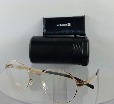 Brand New Authentic ic! Berlin Eyeglasses Awesome Rose Gold 49mm Frame