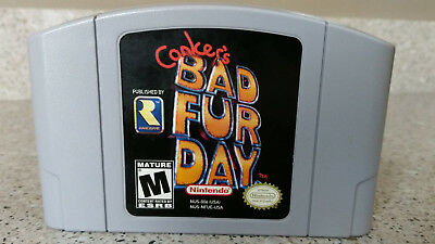 Conker's Bad Fur Day Nintendo 64 N64 Video Game lot CLEAN & TESTED AUTHENTIC!!!!