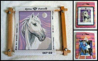 Royal Paris Tapestry Kit Horse Size: 20 X 24 Ins Inc Frame  Opened But New