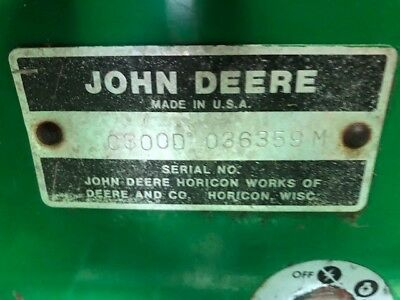 Haban Sickle bar, Deere 300 tractor, Hydraulic Blade