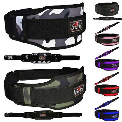 Weight Lifting Belt Neoprene Gym Fitness Workout Double Support Brace (BLACK, LA