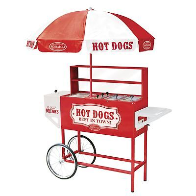 Nostalgia HDC701 48-Inch Hot Dog Vending Cart With Umbrella