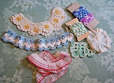 Vintage Lot of Handmade Crochet Trim for Crafts~Beautiful Colors