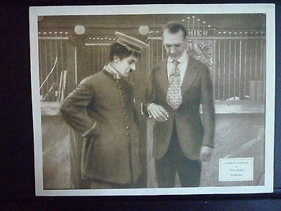 1915 The Bank - Vg Lobby Card - Charlie Chaplin Silent - 1917-1922 Re-Release