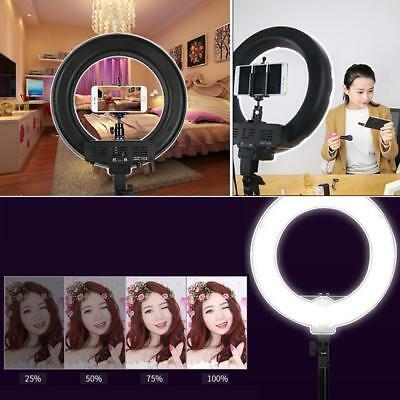 Dimmable Diva LED Ring Light 48cm 65W Mirror and Stand Make Up Studio DE^