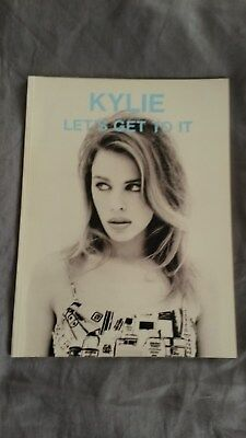 RARE Kylie Minogue Lets Get To It Music Book 1991 Excellent Condition