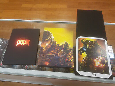 Doom 12in statue and The Art of DOOM: Limited Edition (No Game)
