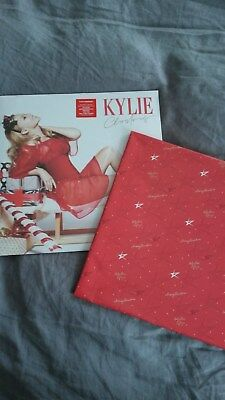 RARE Kylie Minogue Kylie Christmas LP 2015 with Christmas Wrapping Paper