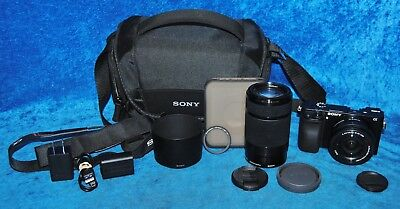 Sony Alpha a6000 24.3 Mirrorless MP Digital SLR Camera 16-50mm & 55-210mm Lenses