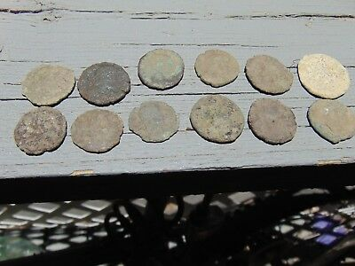 12 ANCIENT ROMAN COINS AE3/4 - Uncleaned