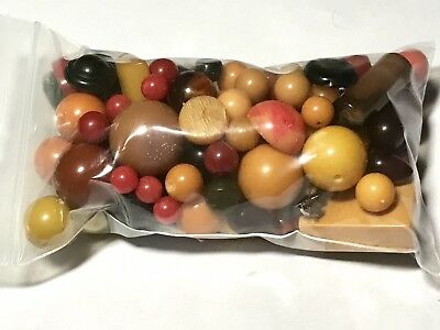 Bag Of Miscellaneous Bakelite Beads And Components 150g #4