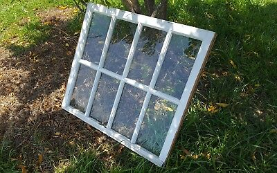 VINTAGE SASH ANTIQUE WOOD WINDOW PICTURE FRAME PINTEREST RUSTIC 8 PANE 36x31