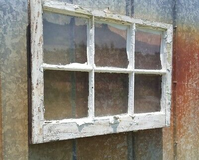 Antique Window Frame Chippy Paint With Metal Handle Vintage Shabby