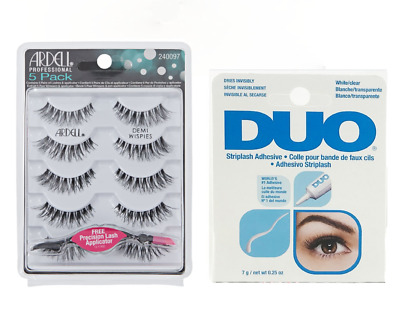 2ecd29bdf0d Ardell Demi Wispies 5 Pack with Lash Applicator + Duo Striplash Adhesive  Clear