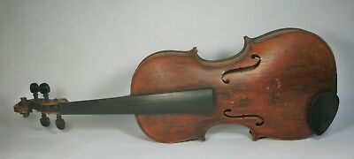 w Vintage HOPF Branded FULL SIZE ACOUSTIC VIOLIN for PARTS REPAIR