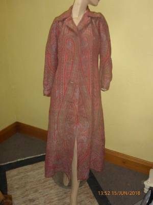Antique Woven Red Paisley Shawl Coat