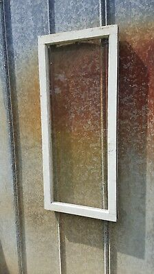 Architectural Salvage ~ 39x17 WOOD WINDOW SASH FRAME 1 PANE PICTURE FRAME