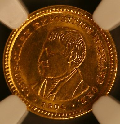 1904 Lewis & Clark Gold Commemorative Gold Dollar Graded NGC MS64