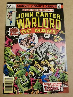 John Carter Warlord Of Mars #1 (1977) Vf+ High Grade Key App See My Other Books