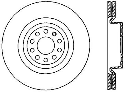 Disc Brake Rotor-Sport Drilled Disc Front Right STOPTECH 128.33098R