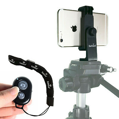 Universal Smartphone Tripod Adapter Mount + Bluetooth Remote for iPhone X 8 7