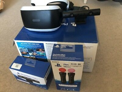 Sony PS VR PlayStation Bundle With PS Camera With PS Move Controller