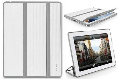 MACALLY WHITE GRAY BOOKSTANDBW RUGGED CASE COVER STAND FOR APPLE iPAD 2 3 4